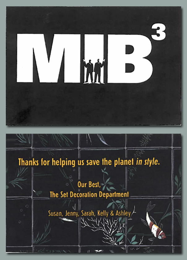 A thank you from the Men in Black Set Department